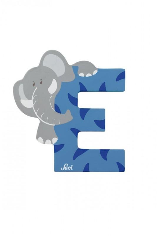 Buchstabe E Elefant, versch. Farben