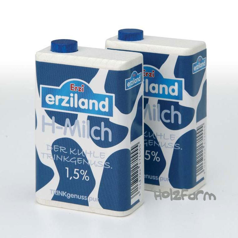 Kaufmannsladenzubehör Milch im Tetra Pak , 1 Stck.