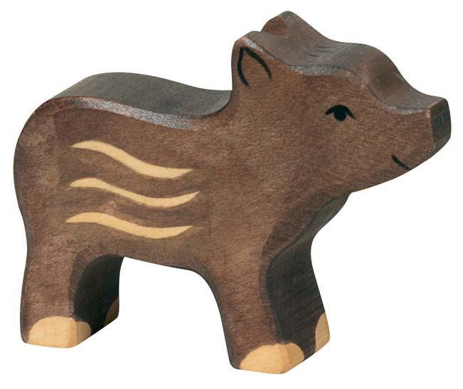 Holztiger Holzfigur Wildschwein, Frischling