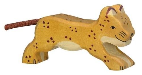 Holztiger Holzfigur Leopard, klein