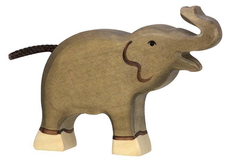 holztiger holzfigur elefant klein r ssel hoch. Black Bedroom Furniture Sets. Home Design Ideas