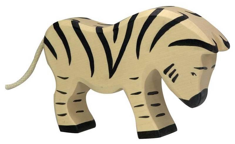 holztiger holzfigur zebra fressend. Black Bedroom Furniture Sets. Home Design Ideas