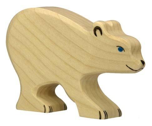 Holztiger Holzfigur Eisbär, klein