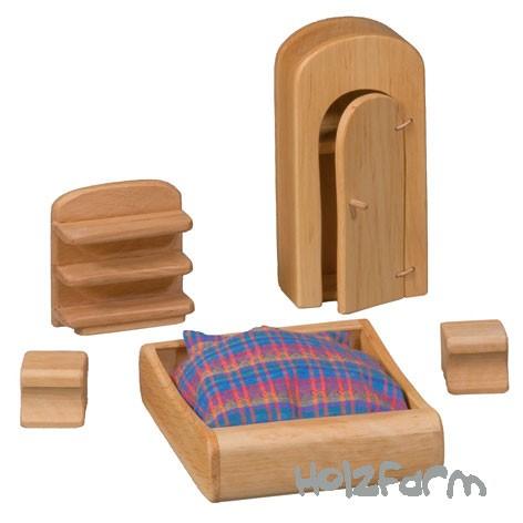 Verneuer Puppenhausmöbel Set Schlafzimmer