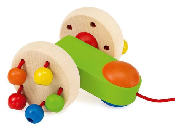Nachziehspielzeug Kugelroller