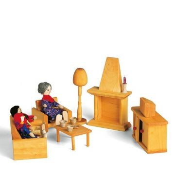 Puppenhaus Möbelset Wohnzimmer