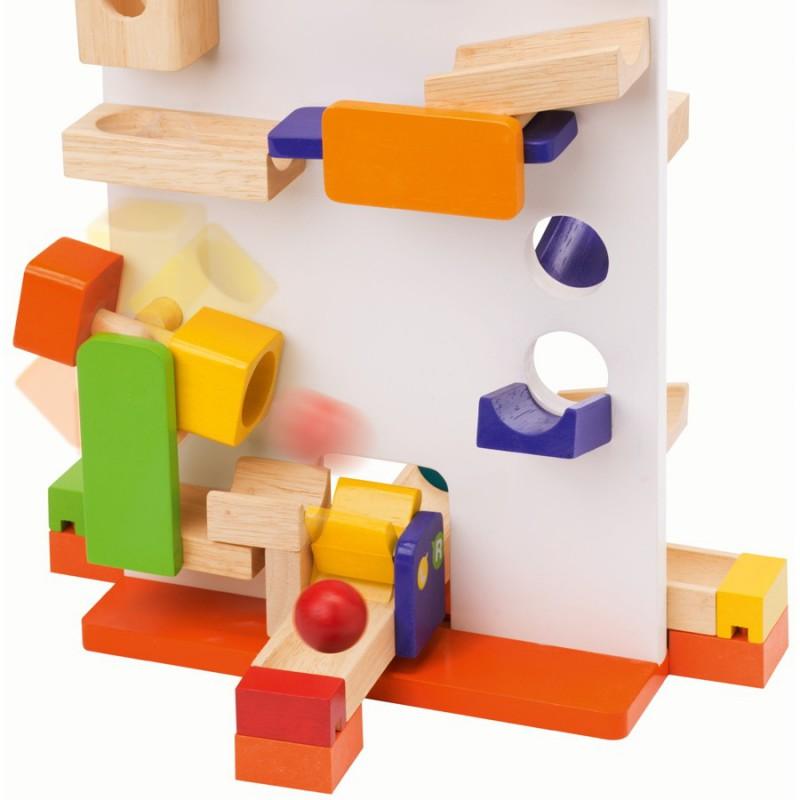 Holz SpielkUche Von Beiden Seiten Bespielbar ~ Wonderworld Trix Track Startturm 7010
