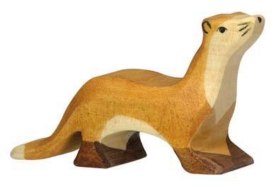 Holztiger Holzfigur Marder