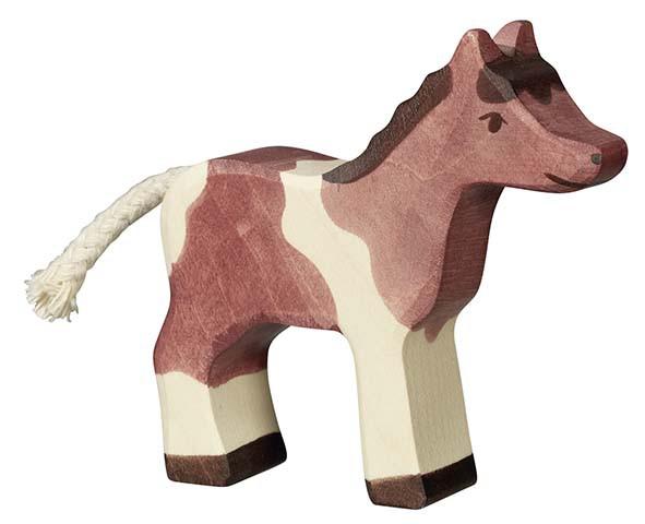 Holztiger Holzfigur Pony klein