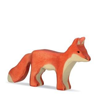 Holztiger Holzfigur Fuchs stehend
