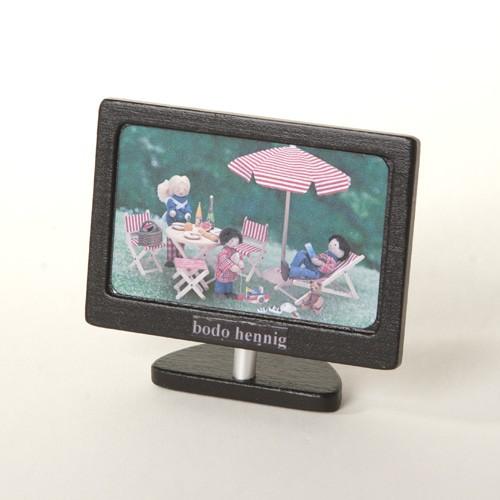 Bodo Hennig Puppenhaus Miniatur Flachbild-Fernseher